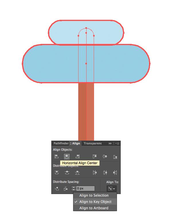 用Adobe Illustrator绘制一个扁平化冬季森林雪景 教程-第7张