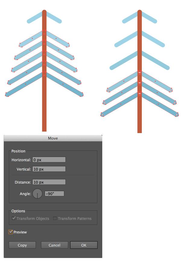 用Adobe Illustrator绘制一个扁平化冬季森林雪景 教程-第16张