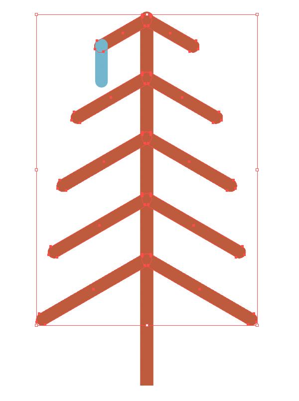 用Adobe Illustrator绘制一个扁平化冬季森林雪景 教程-第17张