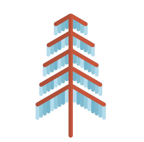 用Adobe Illustrator绘制一个扁平化冬季森林雪景 教程-第19张