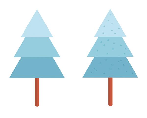 用Adobe Illustrator绘制一个扁平化冬季森林雪景 教程-第21张