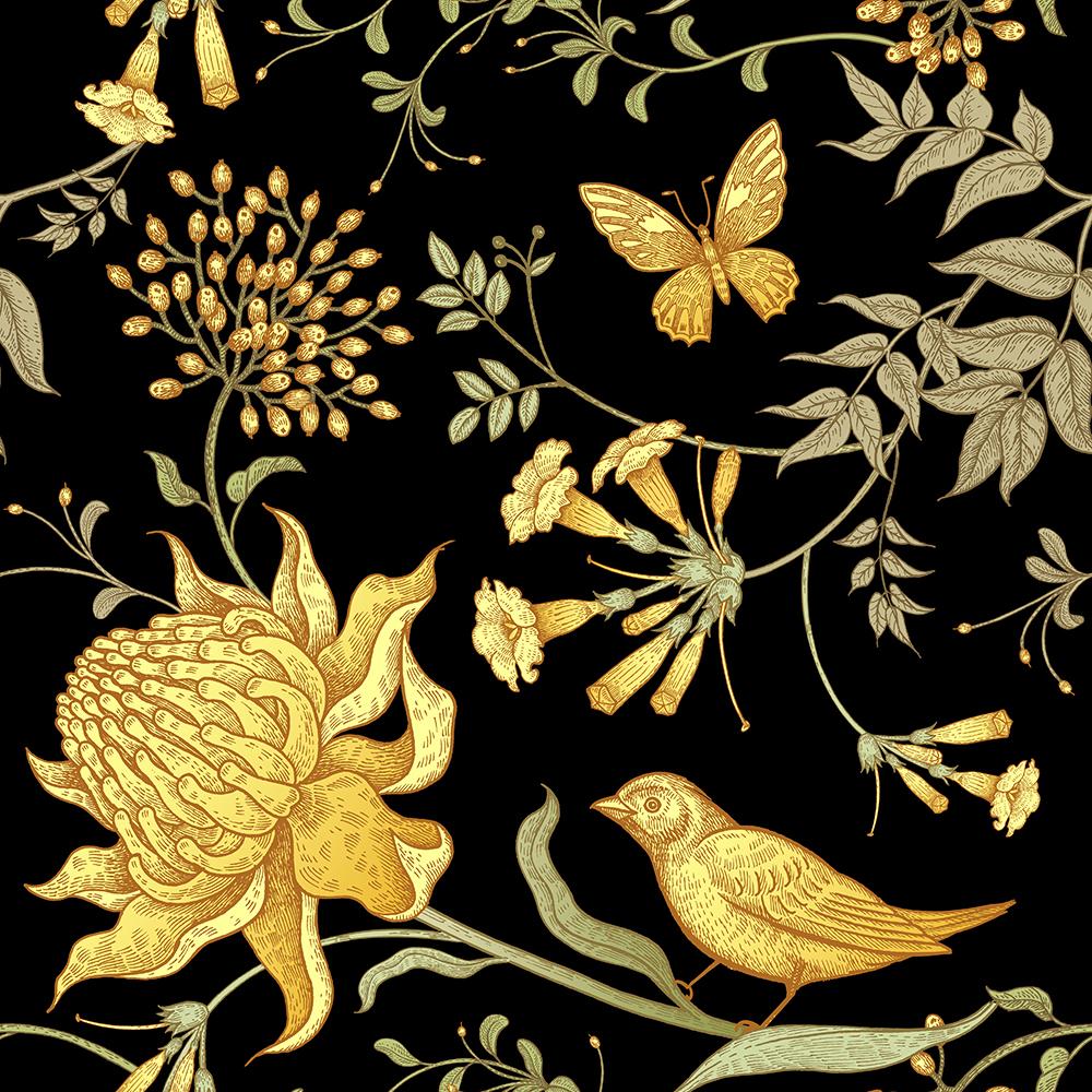 10张中国风工笔高档复古花卉矢量背景 元素-第10张