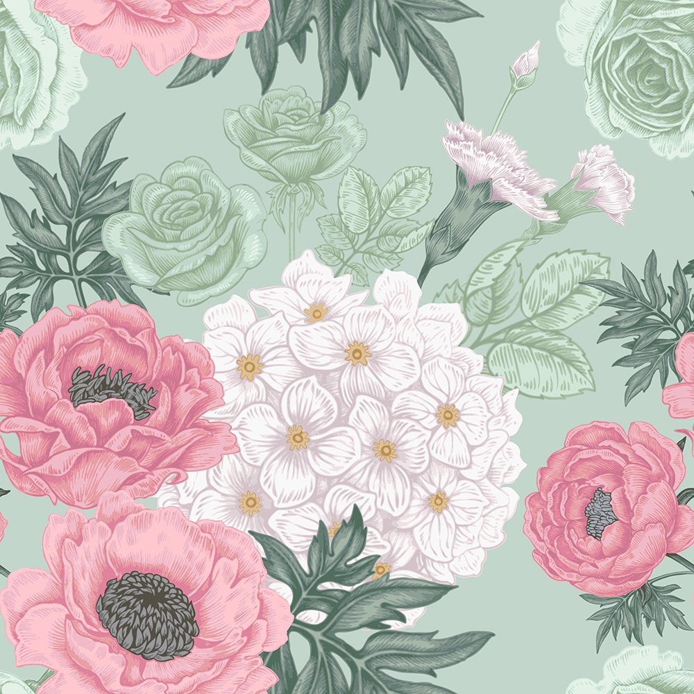 10张中国风工笔高档复古花卉矢量背景 元素-第2张