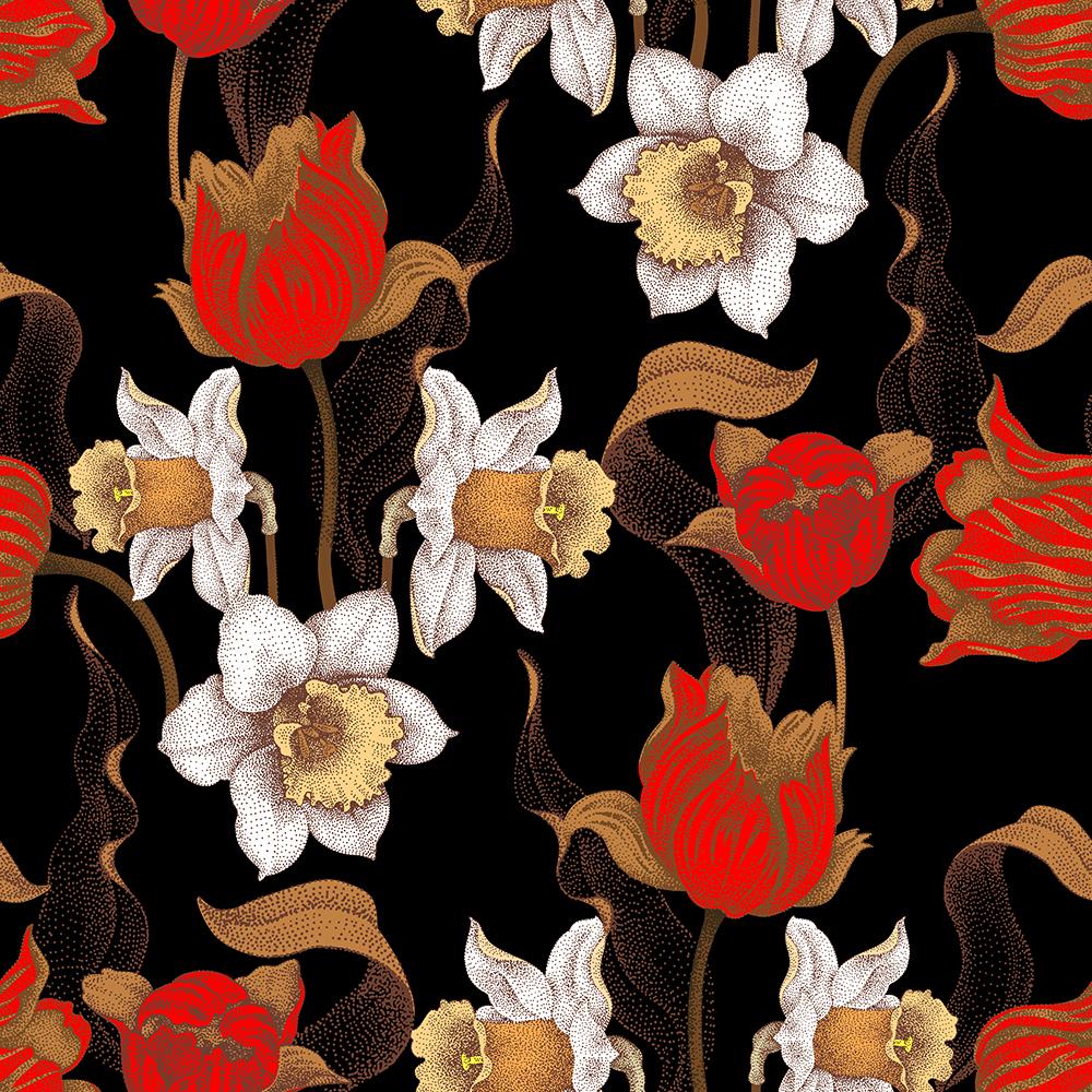 10张中国风工笔高档复古花卉矢量背景 元素-第5张