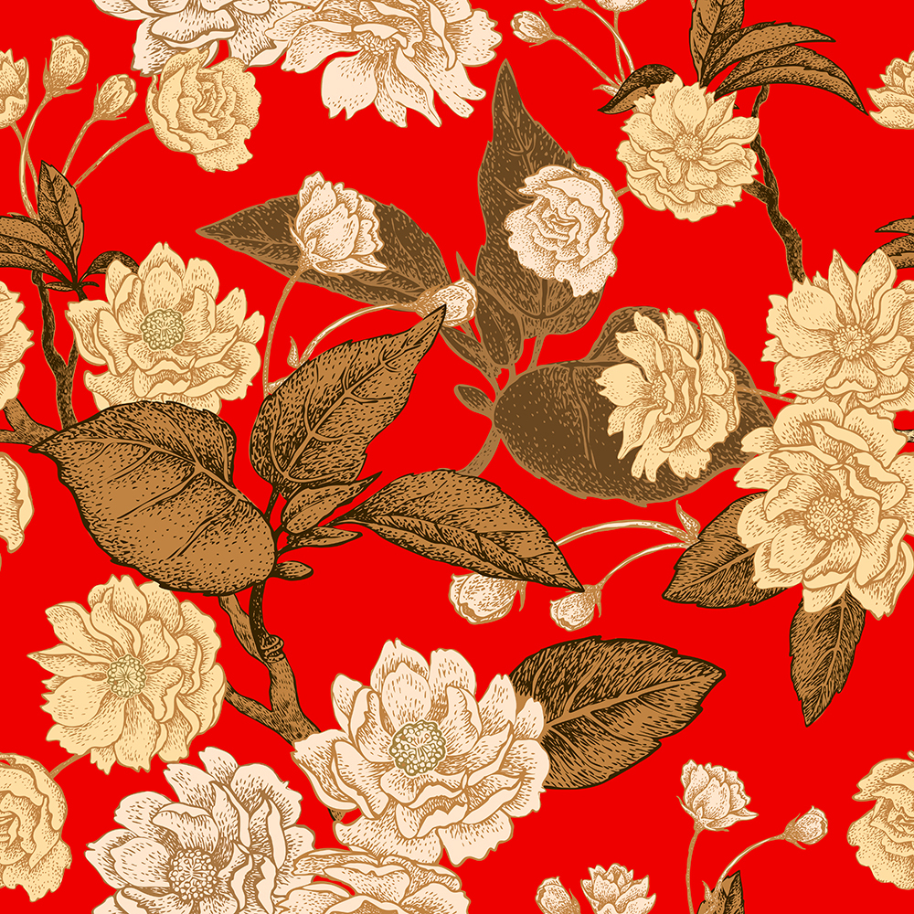 10张中国风工笔高档复古花卉矢量背景 元素-第9张