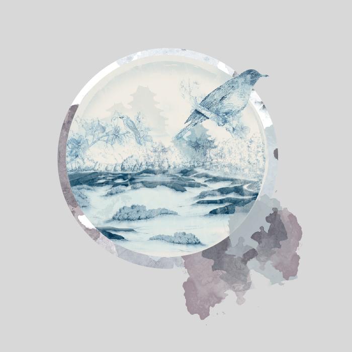 18张手绘中国风水墨圆形AI矢量素材 插画-第10张