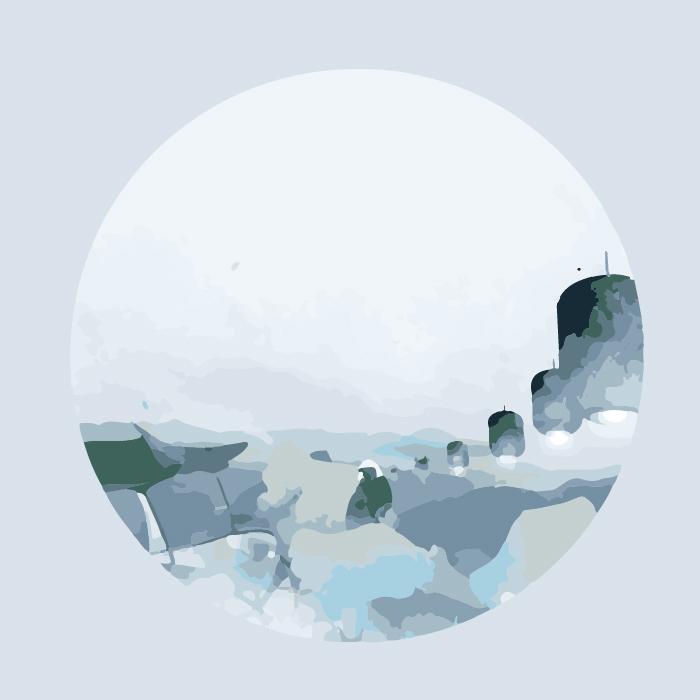 18张手绘中国风水墨圆形AI矢量素材 插画-第16张