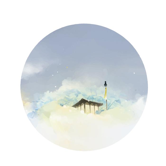 18张手绘中国风水墨圆形AI矢量素材 插画-第18张