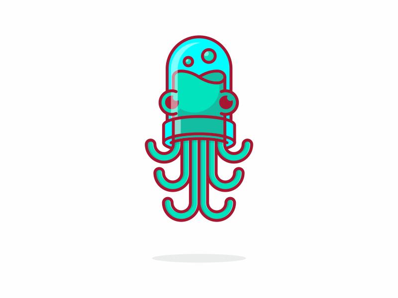章鱼系列logo 欣赏-第3张