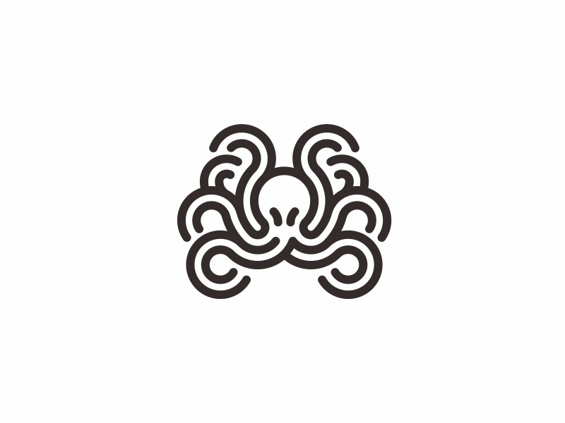 章鱼系列logo 欣赏-第10张