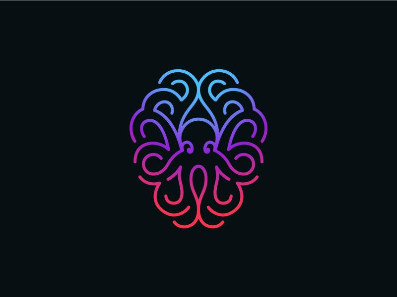 章鱼系列logo 欣赏-第15张