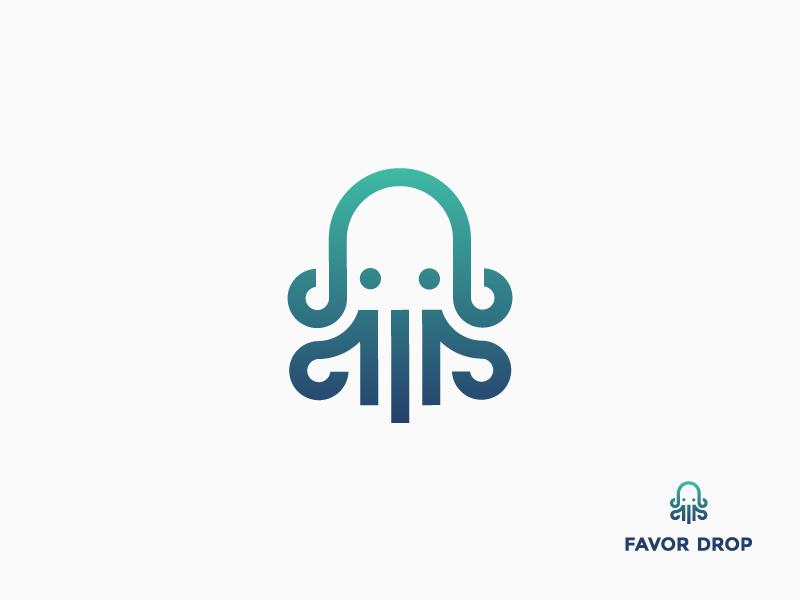 章鱼系列logo 欣赏-第18张