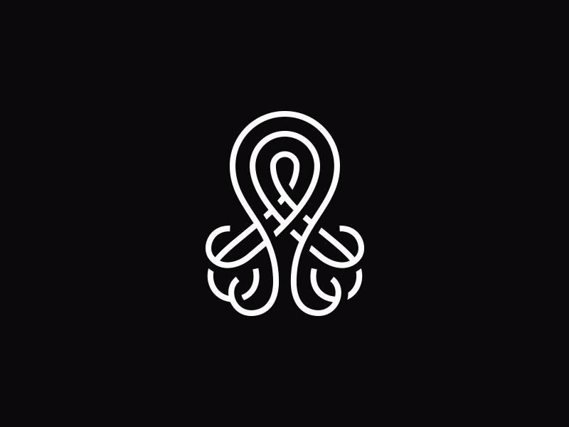 章鱼系列logo 欣赏-第23张