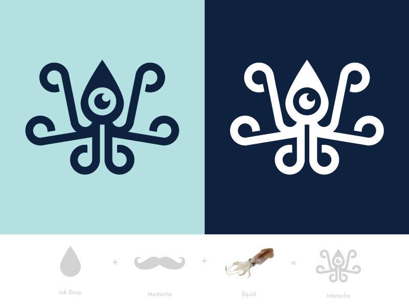章鱼系列logo 欣赏-第25张