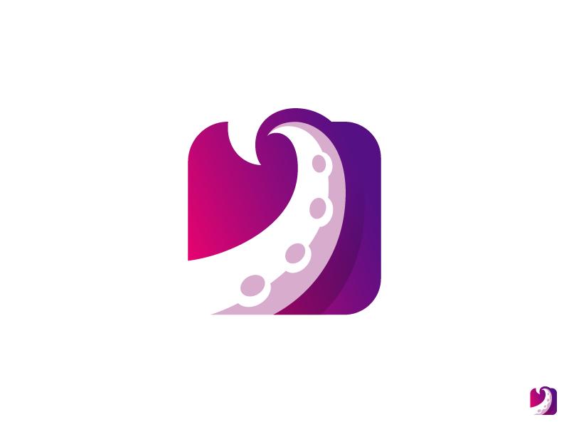 章鱼系列logo 欣赏-第26张