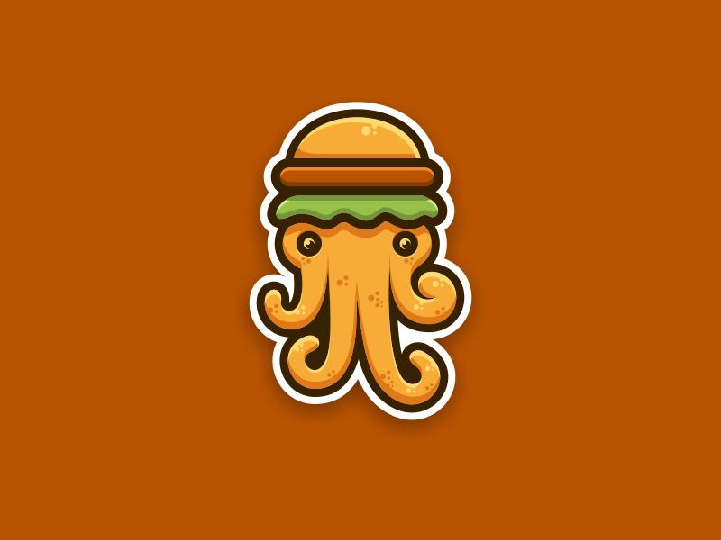 章鱼系列logo 欣赏-第34张