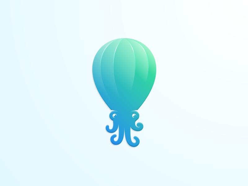 章鱼系列logo 欣赏-第36张