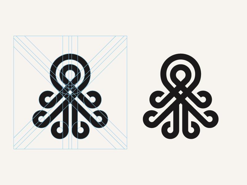 章鱼系列logo 欣赏-第50张