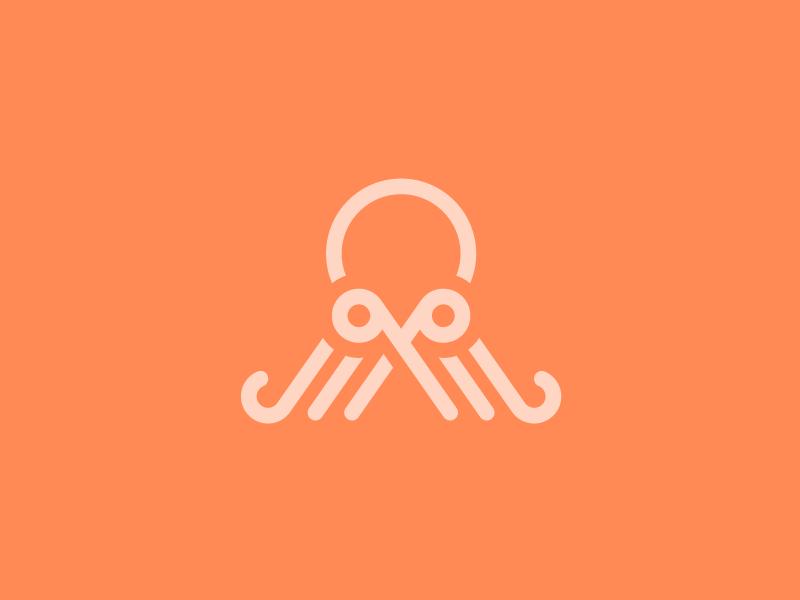 章鱼系列logo 欣赏-第41张