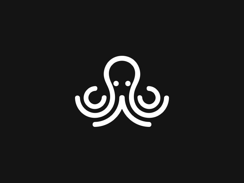 章鱼系列logo 欣赏-第42张