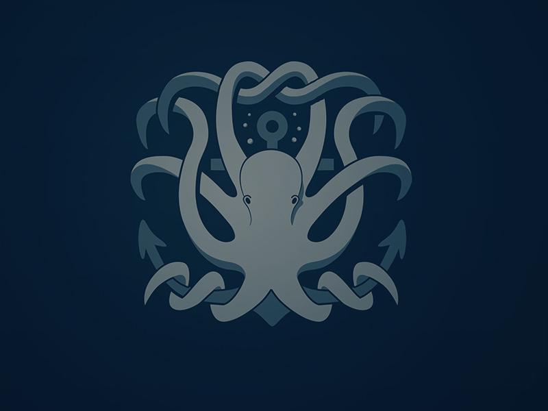 章鱼系列logo 欣赏-第52张