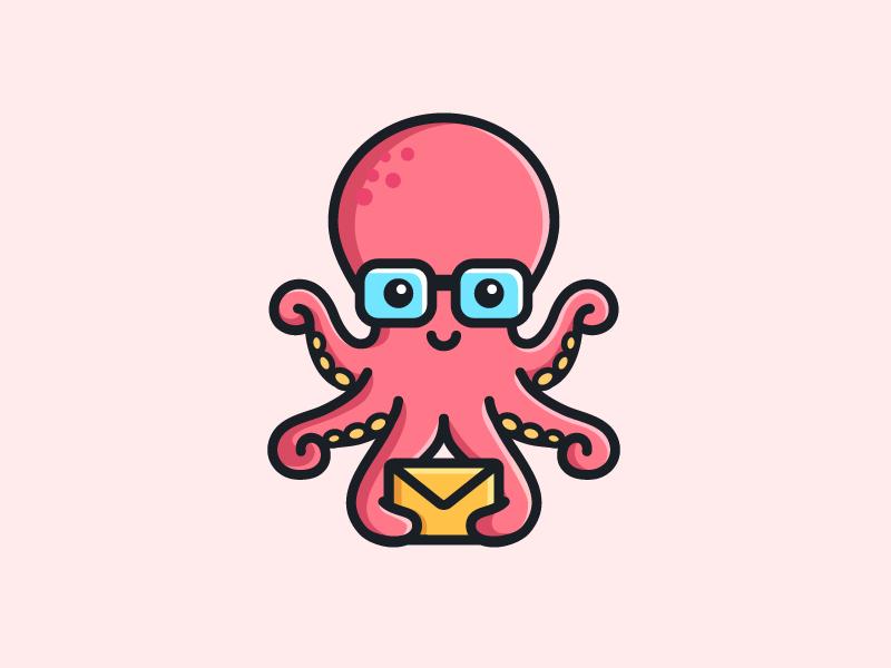 章鱼系列logo 欣赏-第55张
