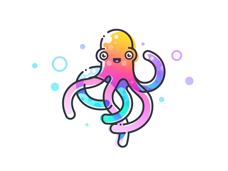 章鱼系列logo 欣赏-第47张