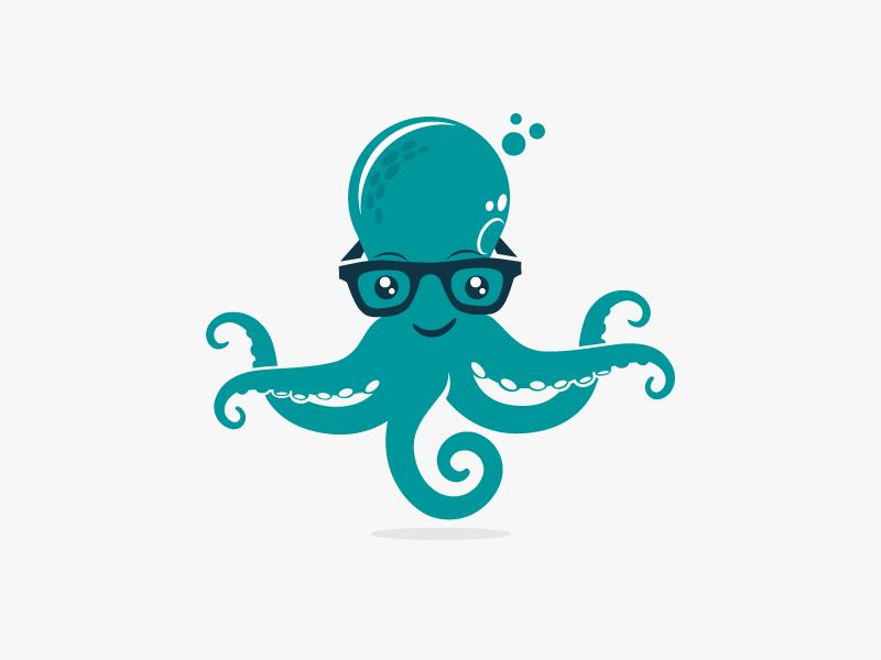 章鱼系列logo 欣赏-第62张
