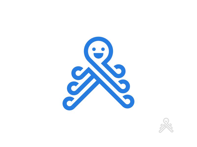 章鱼系列logo 欣赏-第72张