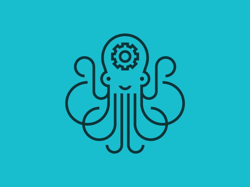 章鱼系列logo 欣赏-第73张