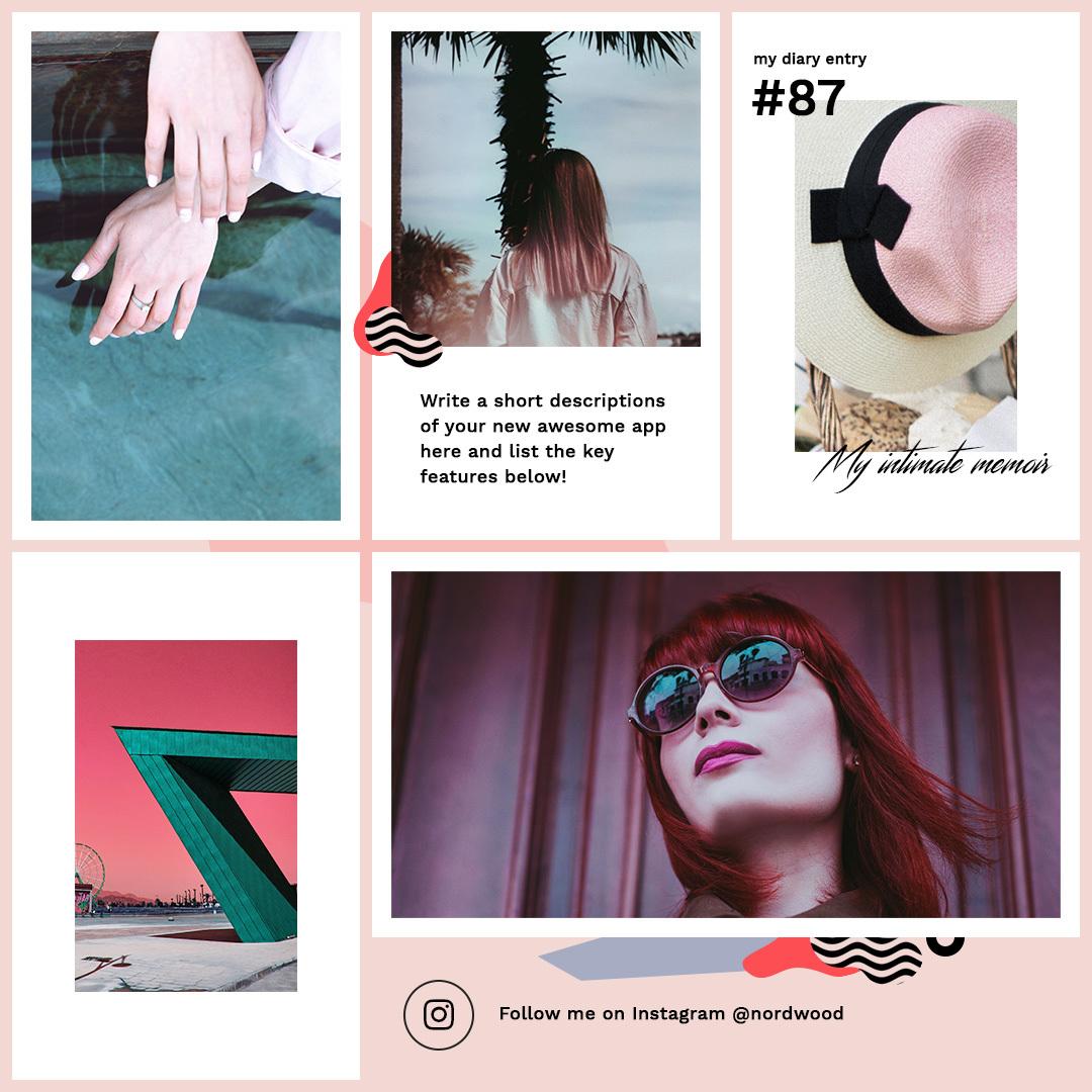 创意欧美排版写真PSD素材 模板-第14张