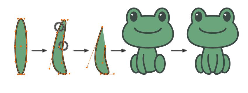 如何在Adobe Illustrator中创建一幅青蛙公主插画 教程-第8张