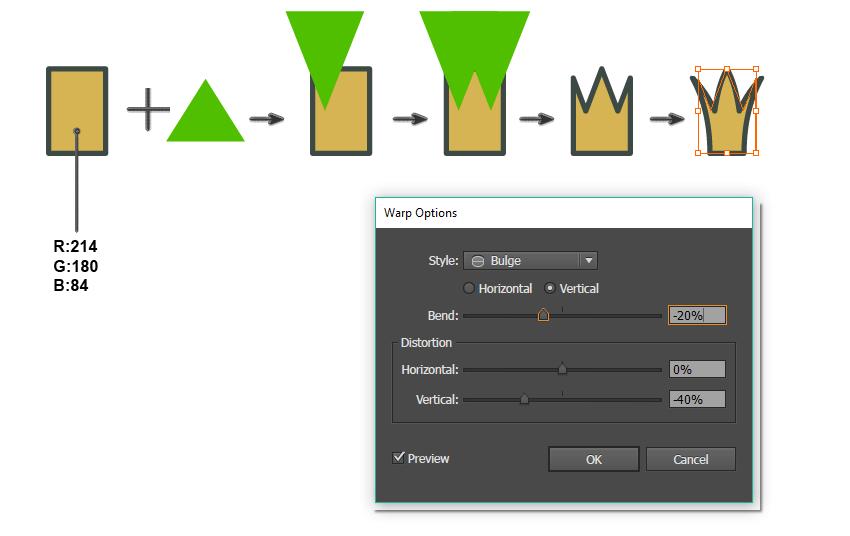如何在Adobe Illustrator中创建一幅青蛙公主插画 教程-第11张