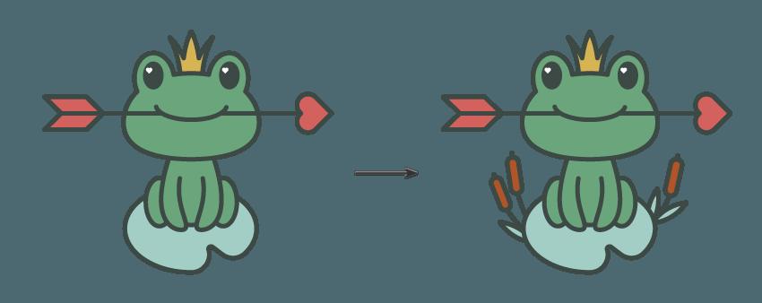 如何在Adobe Illustrator中创建一幅青蛙公主插画 教程-第15张