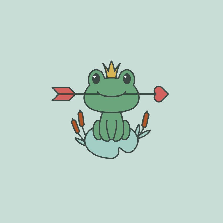 如何在Adobe Illustrator中创建一幅青蛙公主插画 教程-第17张