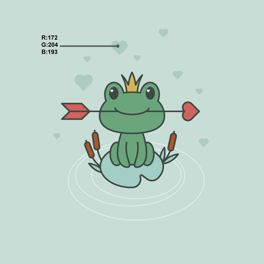 如何在Adobe Illustrator中创建一幅青蛙公主插画 教程-第19张