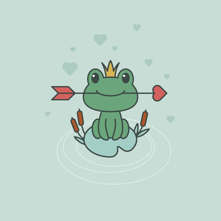 如何在Adobe Illustrator中创建一幅青蛙公主插画 教程-第20张