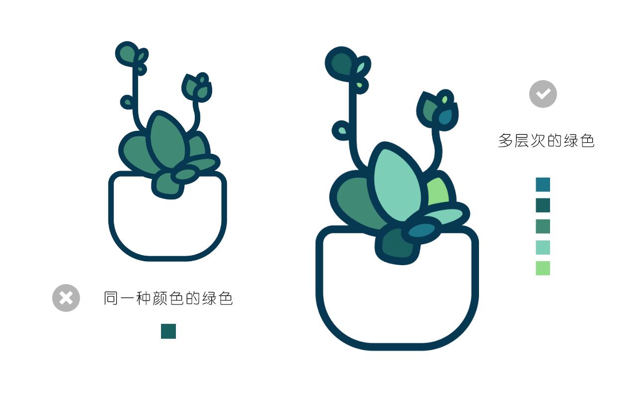 绘制一枚多肉植物扁平风线体插画 教程-第14张