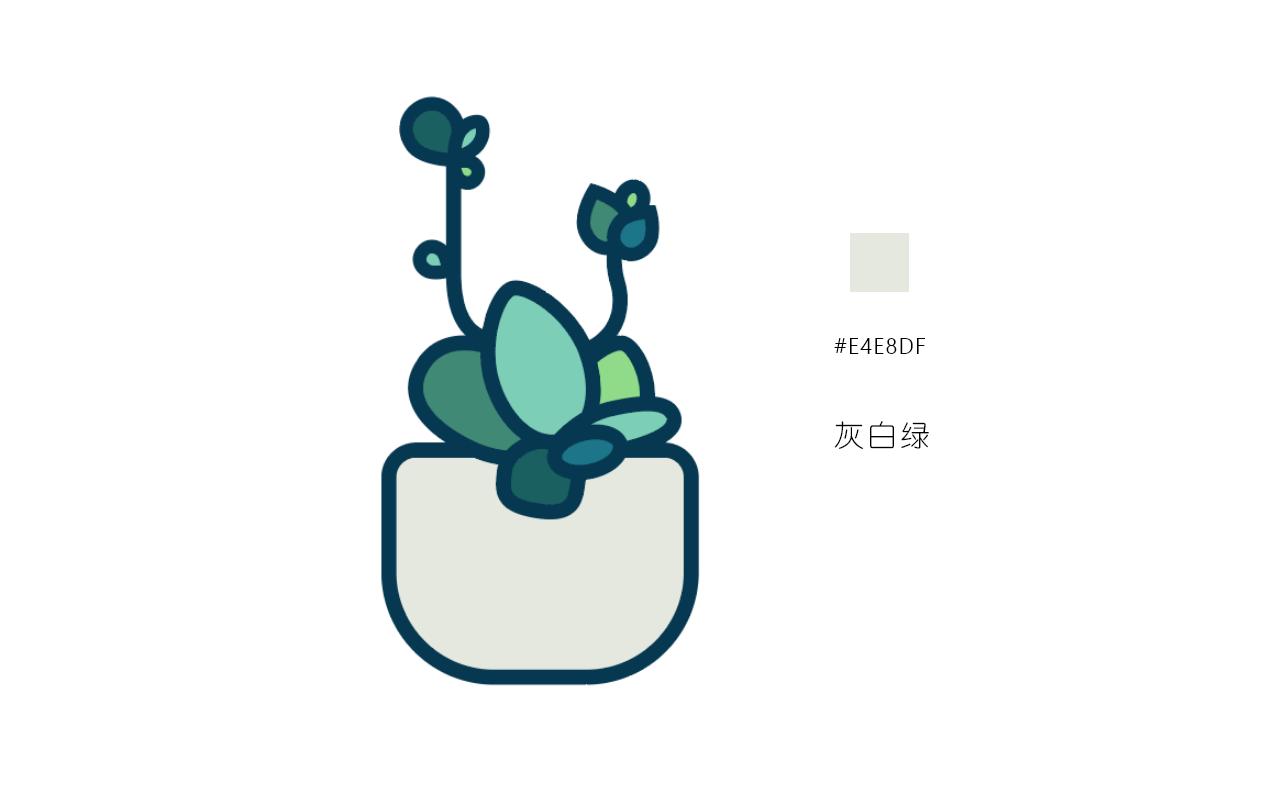 绘制一枚多肉植物扁平风线体插画 教程-第15张