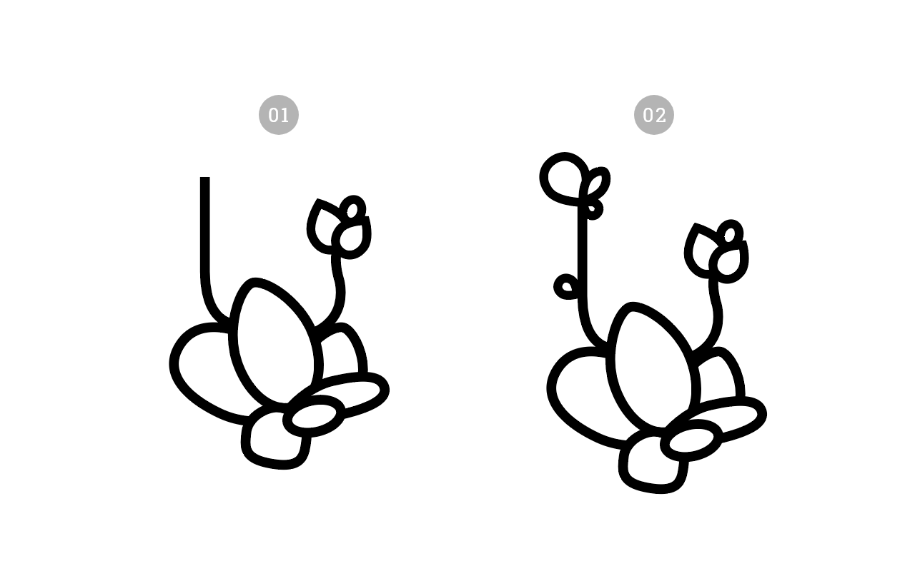 绘制一枚多肉植物扁平风线体插画 教程-第6张