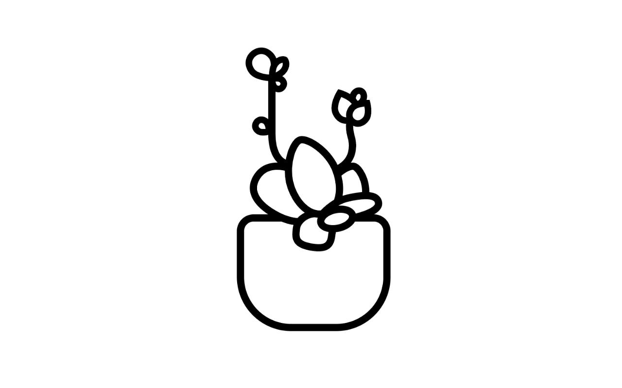 绘制一枚多肉植物扁平风线体插画 教程-第7张