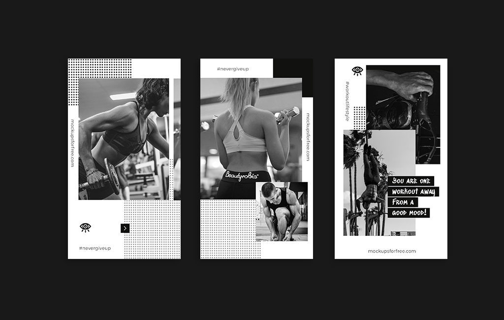 健身锻炼类微信微博海报PSD模板 模板-第1张