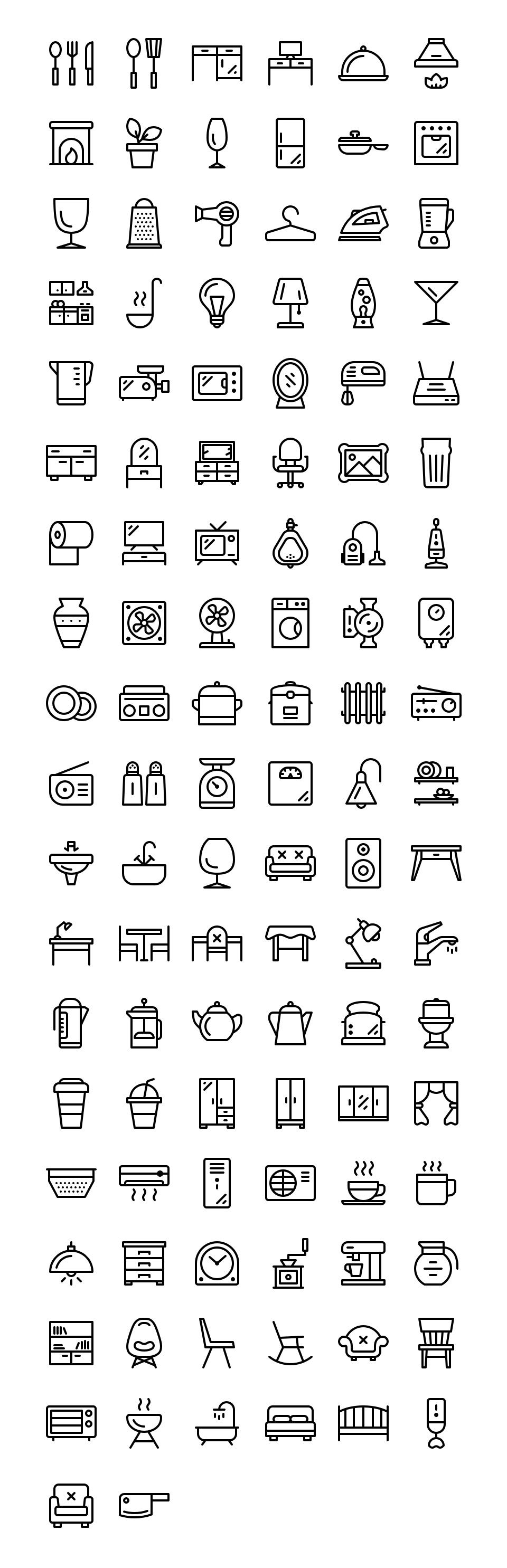 110个常用家居线型icon 元素-第1张