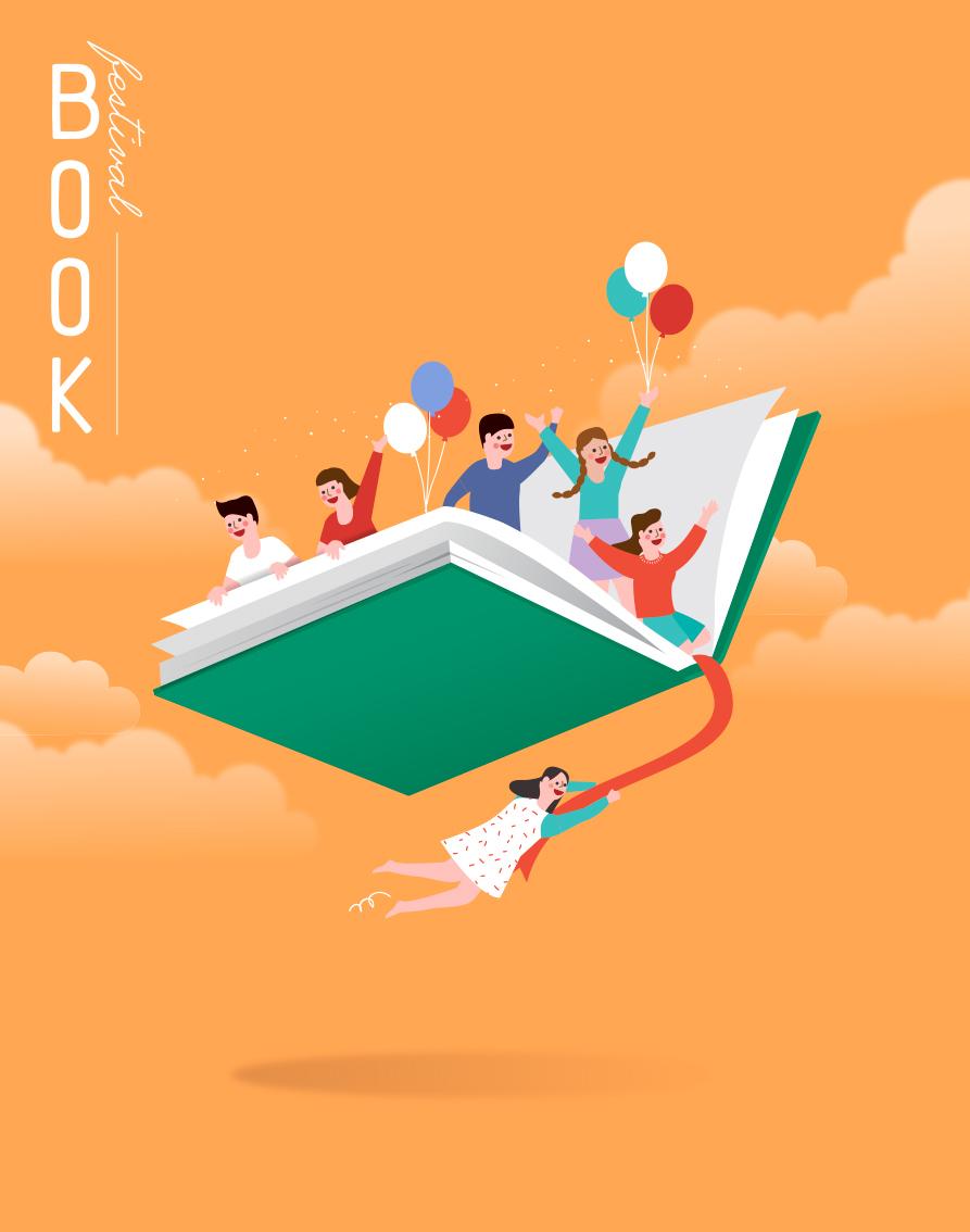 7款卡通手绘书籍阅读2.5D郊游玩耍场景插图插画背景AI设计素材 插画-第6张