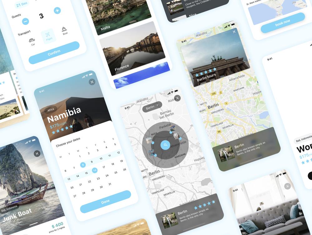适用于iOS和Sketch的旅行UI工具包 UI界面-第2张