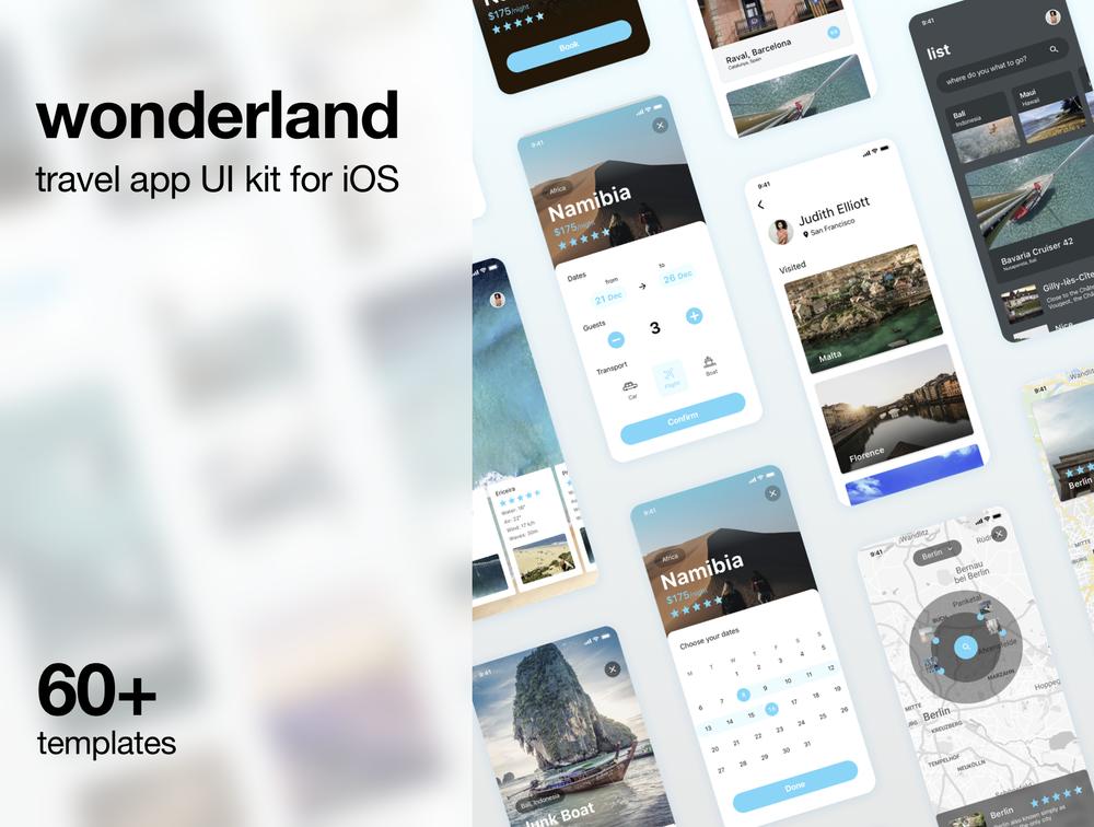 适用于iOS和Sketch的旅行UI工具包 UI界面-第3张