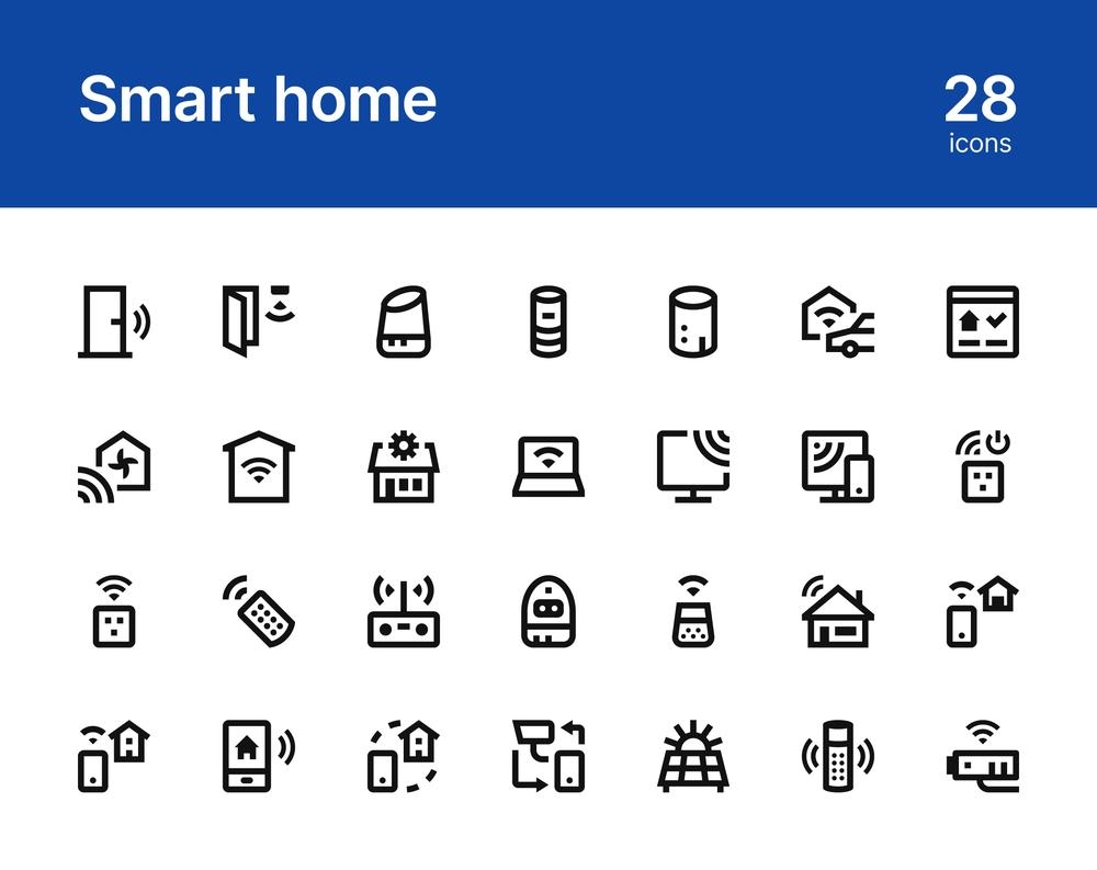 28个智能家居设备线性图标 元素-第4张