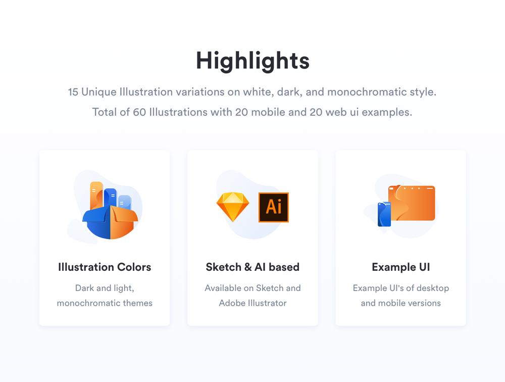 移动版网页版工作和办公室插图包 UI界面-第2张