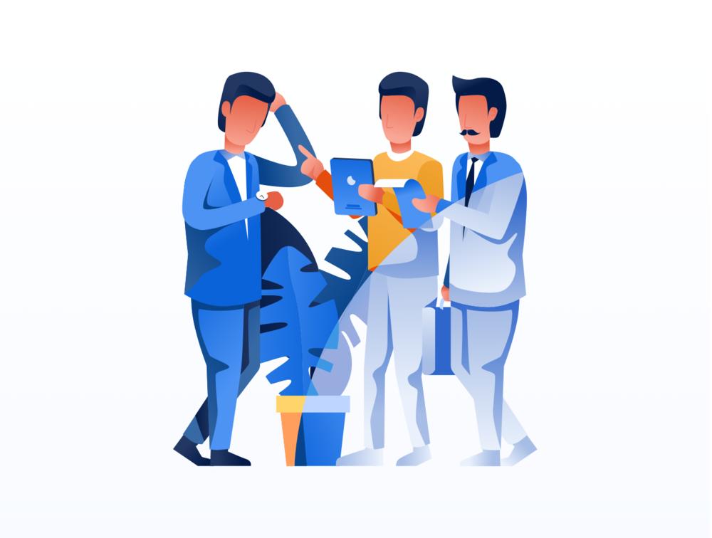 移动版网页版工作和办公室插图包 UI界面-第5张