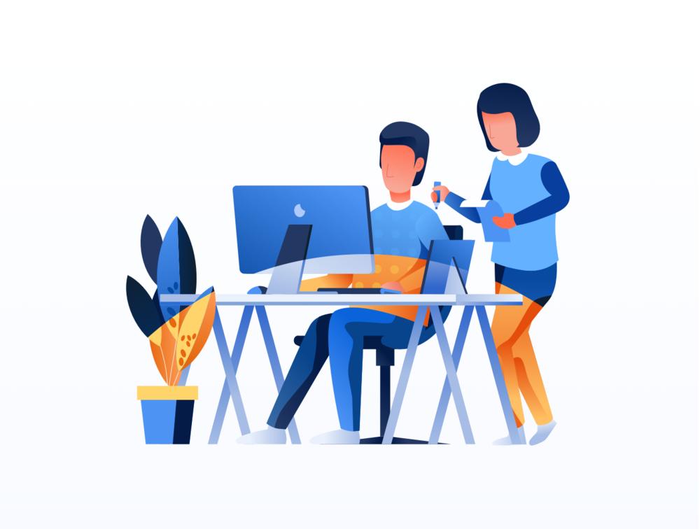 移动版网页版工作和办公室插图包 UI界面-第6张